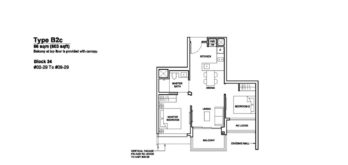 Forett-at-bukit-timah-Floor-Plan-2-bedroom-B2c-singapore