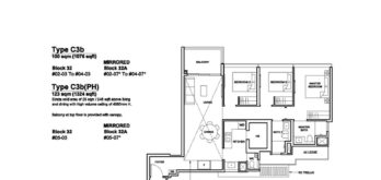 Forett-at-bukit-timah-Floor-Plan-3-bedroom-premium-C3b-singapore